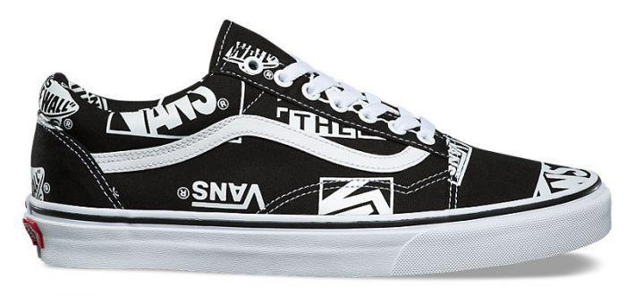 Black and White Vans Shoes Logo - LogoDix