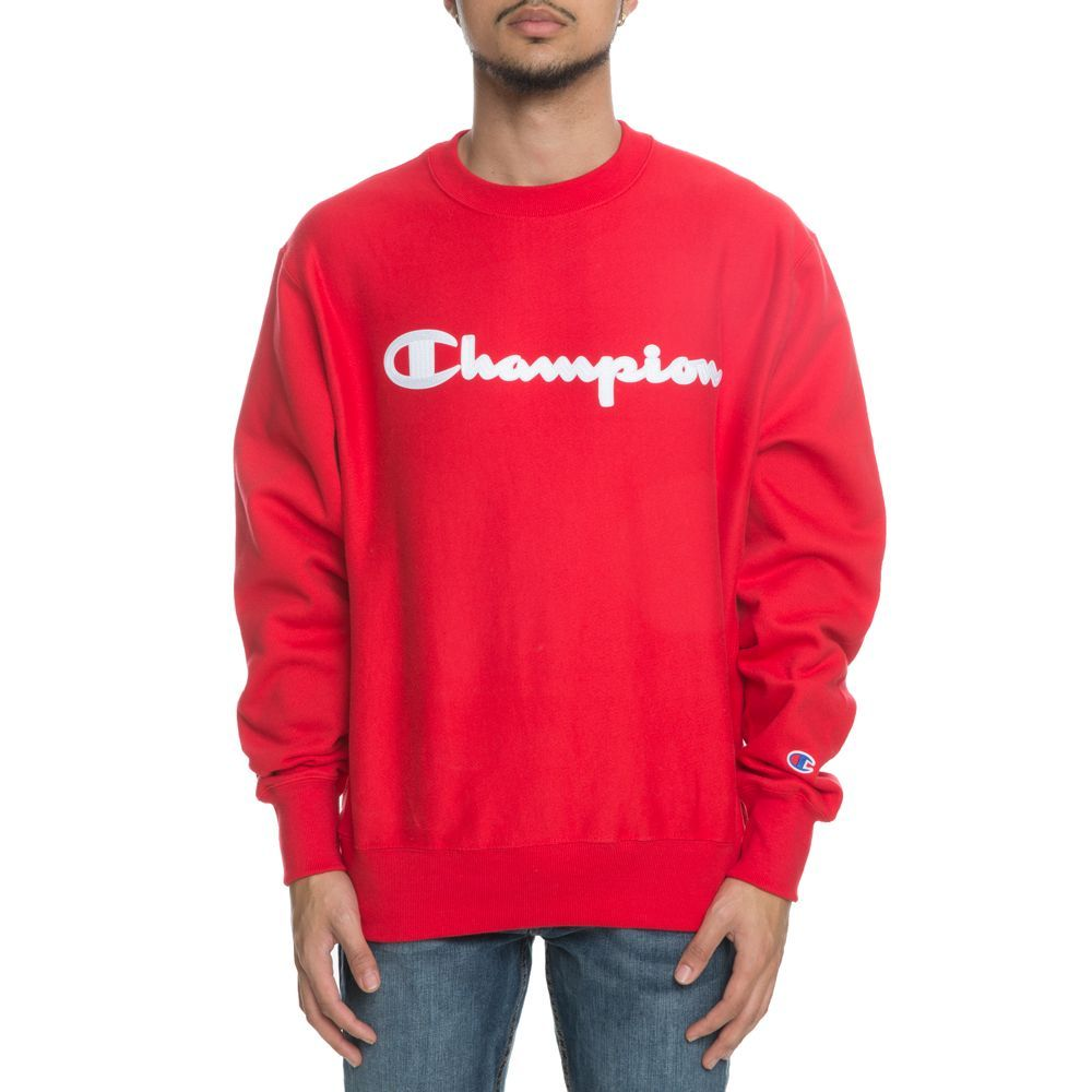 217cee647 Champion Brand Clothing Logo - MEN'S CHAMPION REVERSE WEAVE CREW RED.  Champion Brand Clothing Logo - BLEECKER: Champion champion BASIC T-SHIRT  short sleeves ...