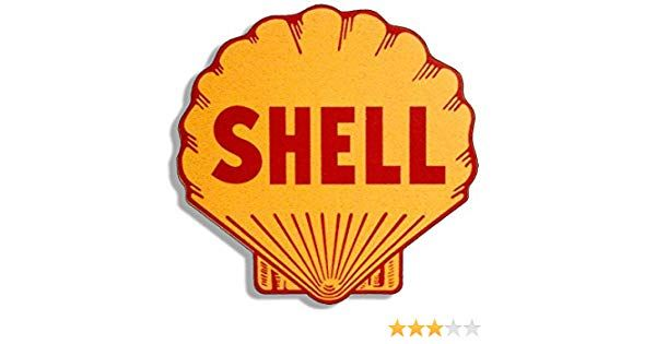 Gas Station Logo - Amazon.com: American Vinyl Vintage Shell Gas Station Logo Shaped ...