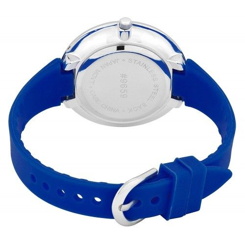 Watch with Cross Logo - Belief Women's Sporty Royal Blue Face Royal Blue Silicon Band Watch ...