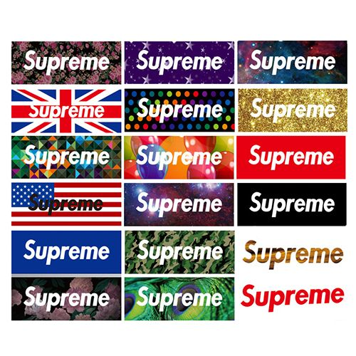Supreme Logo - 18pcs No Repeat Supreme Box Logo Stickers, Buy Luggage Bumper ...
