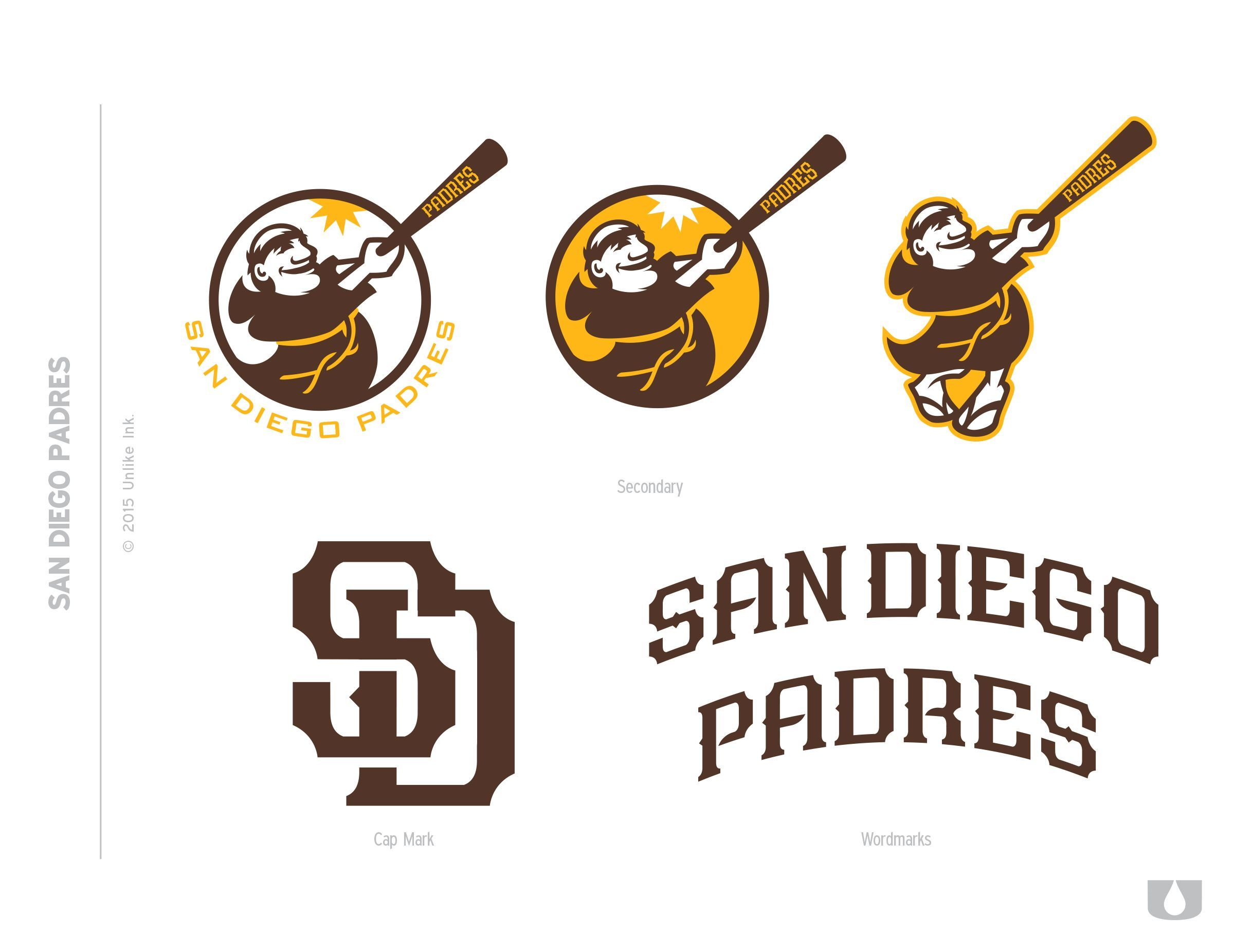 Padres Old Logo - Even more uniform mock-ups in old Padres colors - Gaslamp Ball ...
