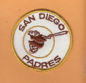Padres Old Logo - OLD LOGO 1960's SAN DIEGO PADRES 3 inch STITCHED PATCH Unsold Stock ...