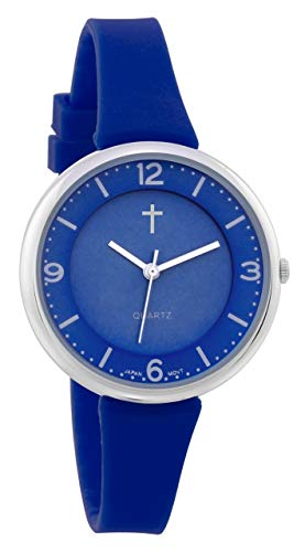 Watch with Cross Logo - Amazon.com: Belief Women's | Sporty Royal Blue Face Royal Blue ...