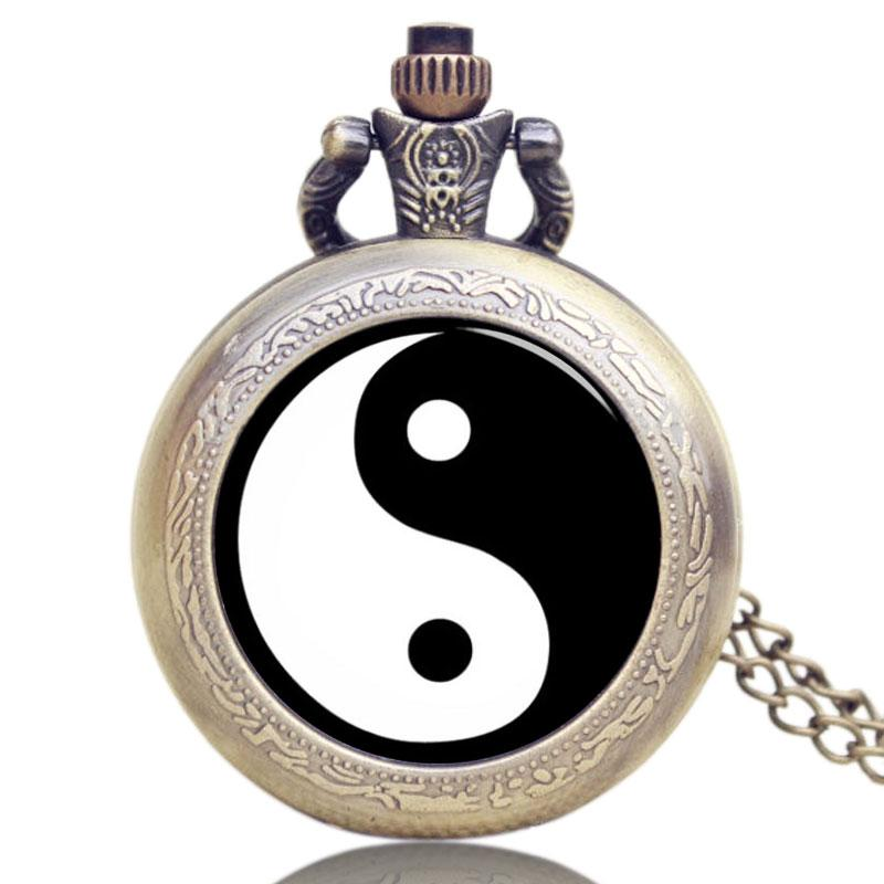 Watch with Cross Logo - China Traditional Tai Chi Logo Pocket Watch Glass Dome With Bronze ...