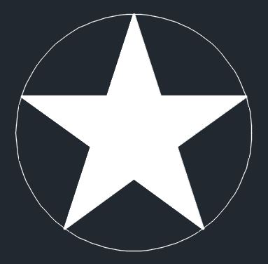 Circle around a Star Logo - Let me make you an AutoCAD Star!