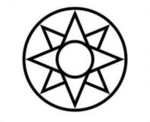 Circle around a Star Logo - The 8 pointed star symbolizes hope and guidance. A circle around ...