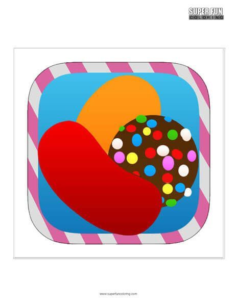 Coloring page Candy Crush Saga 2 | 600x464