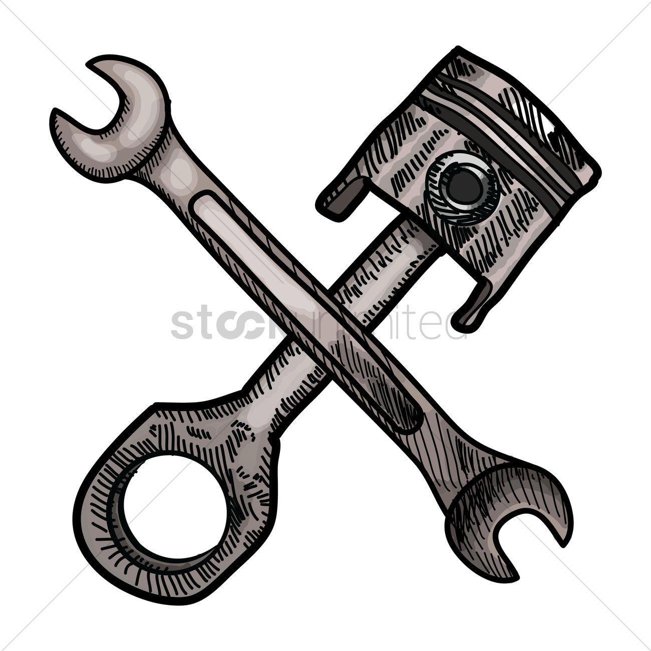 Piston and Wrench Logo - LogoDix