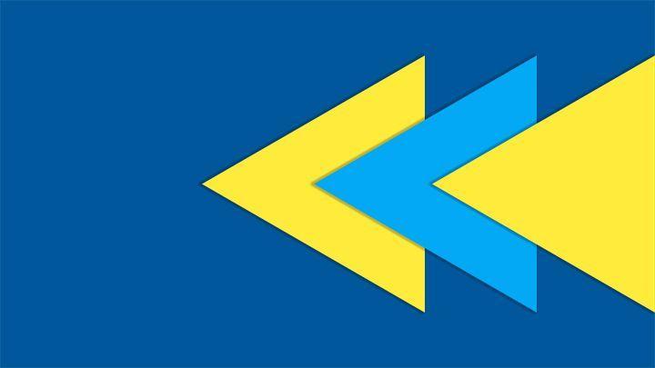 Yellow Blue Triangle Logo - LogoDix
