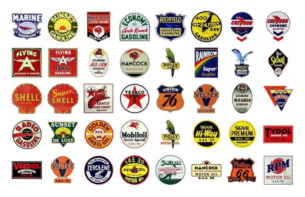 Gas Station Logo - old gas station logos | Badges | Gas station, Old gas stations, Gas ...