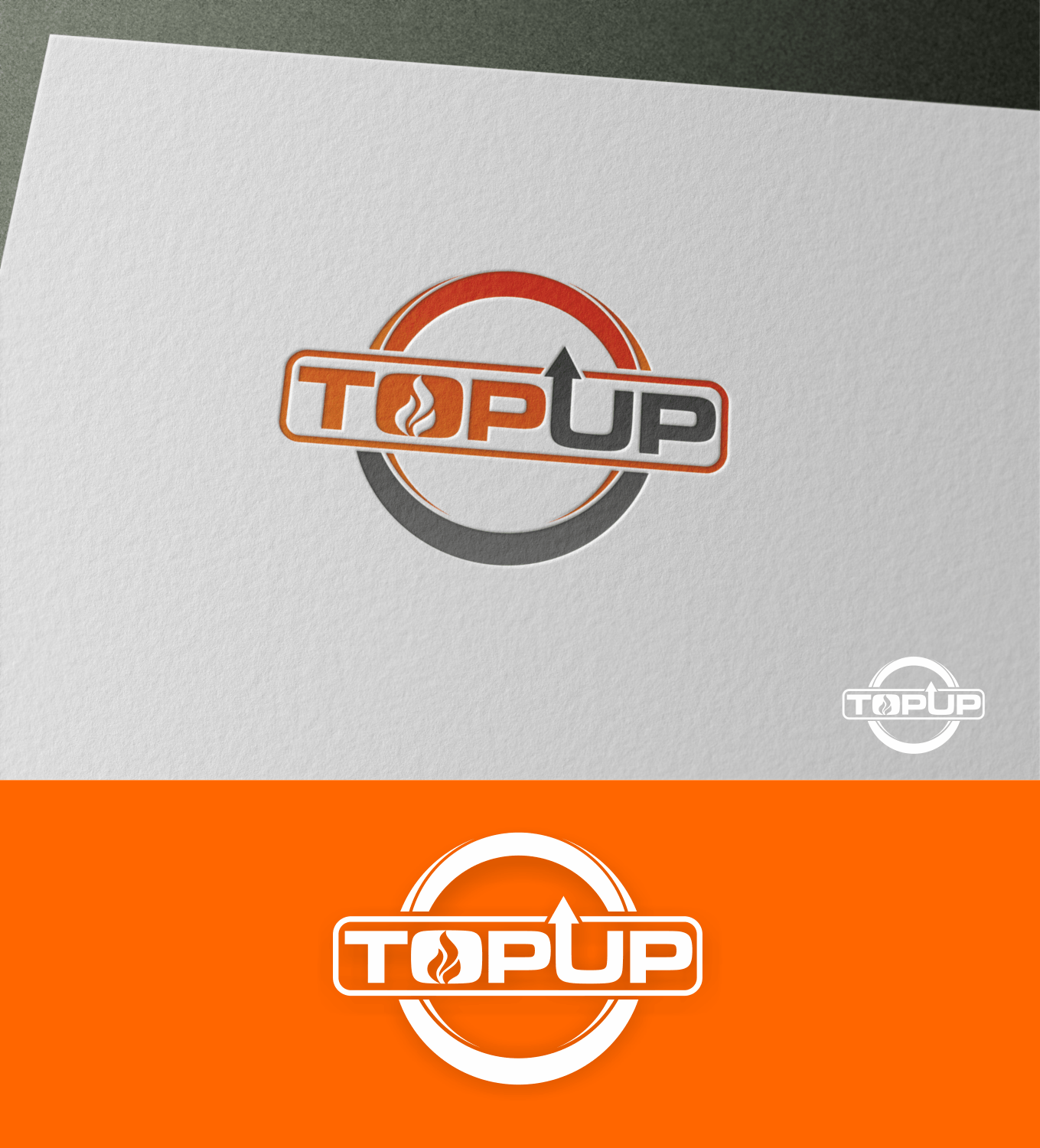 Gas Station Logo - Modern, Bold, Gas Station Logo Design for Top Up by eugenv | Design ...