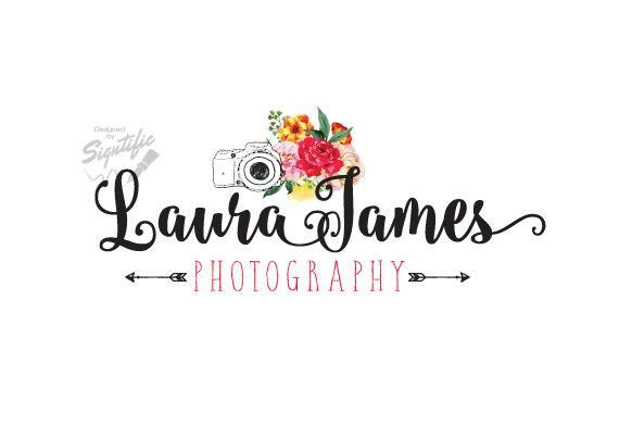 Photography Watermark Logo - Flowers Photography Logo, Floral Logo with Camera, Photographer ...