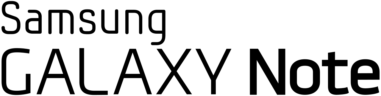 Samsung Galaxy Note Logo - File:Galaxy Note logo.svg - Wikimedia Commons