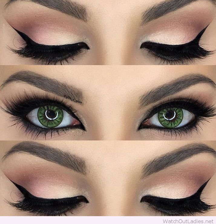 Black and Green Eye Logo - Gorgeous nude and black eye makeup for green eyes | Hair and makeup ...