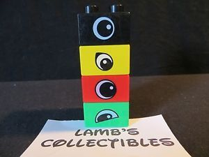 Black and Green Eye Logo - Duplo Red Black green and yellow Eye(s) bricks set of four 1.25 X ...