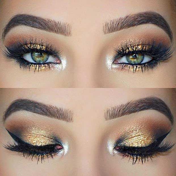 Black and Green Eye Logo - 10 Beautiful Makeup Looks For Green Eyes – Femniqe