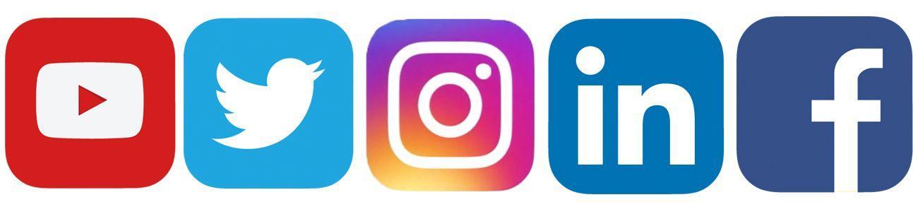 Image result for facebook linkedin instagram and twitter logos