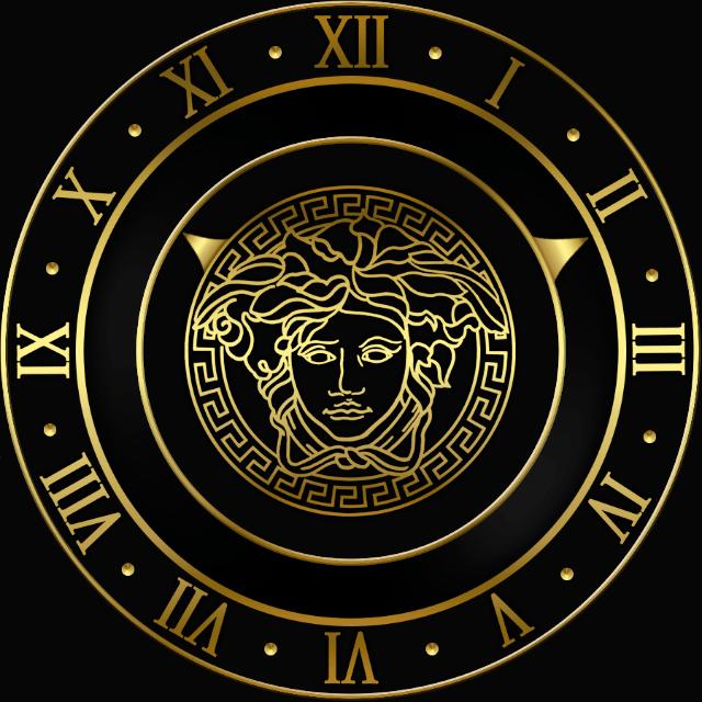 Black And Gold Versace Logo Logodix