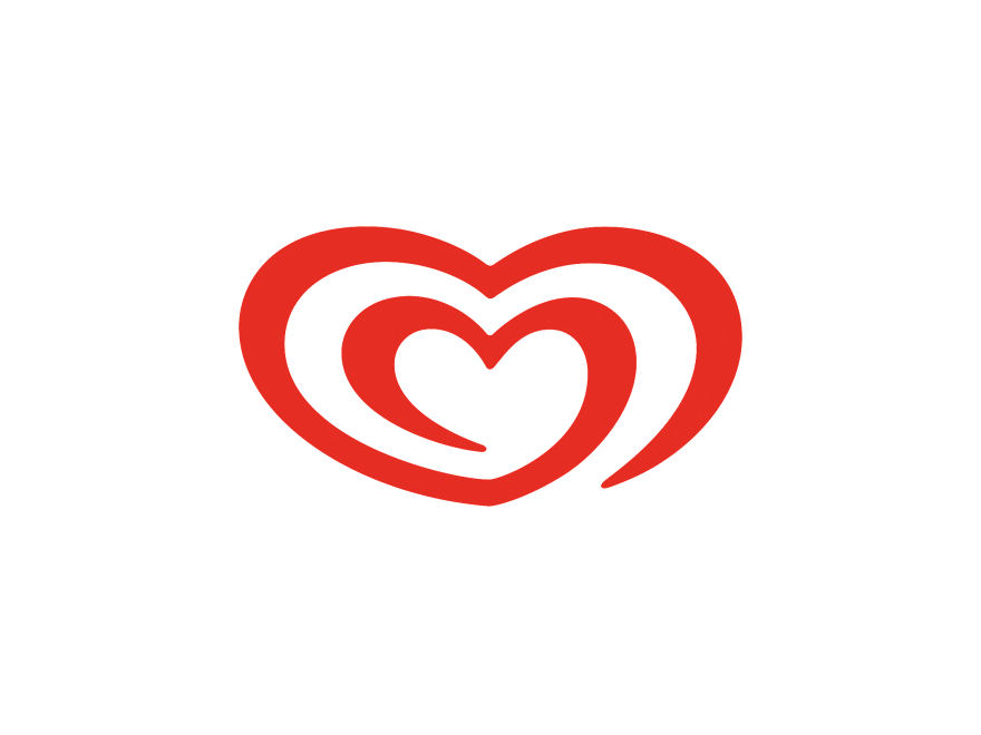 Ice Cream Heart Logo - Wall's logo | Logok
