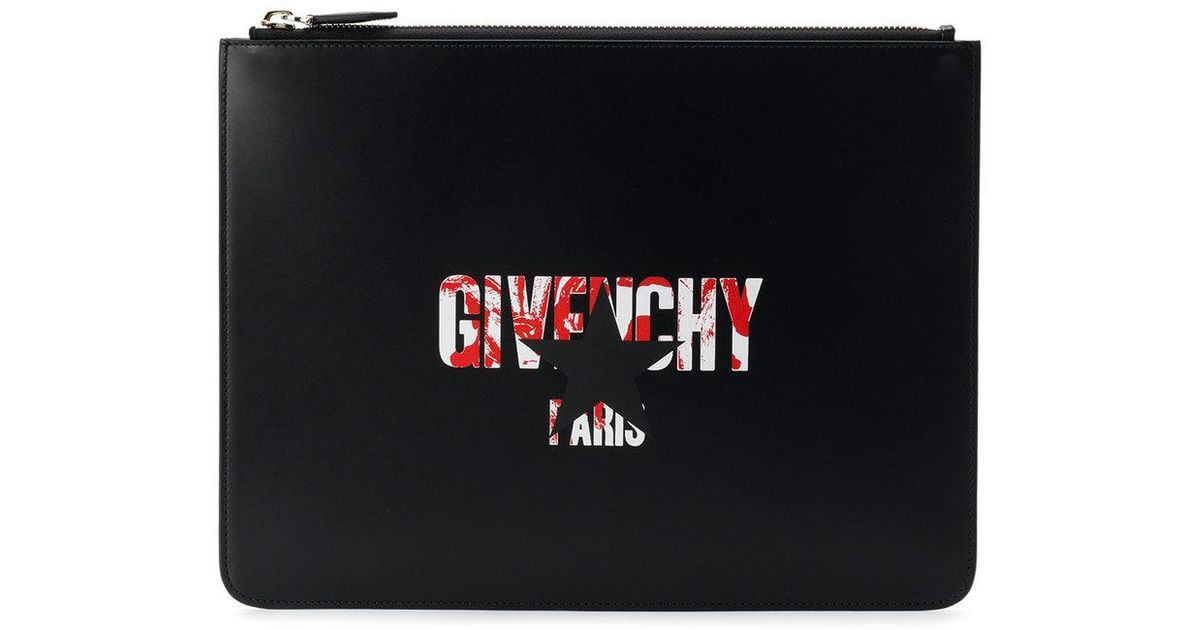 Black Star Logo - Givenchy Star Logo Print Pouch in Black for Men - Lyst