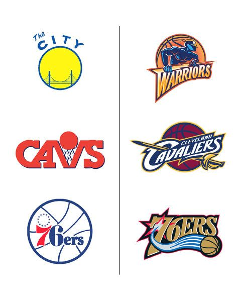 Old Basketball Logo - Old School' Logos - The New York Times