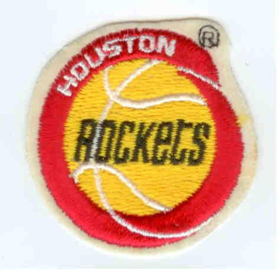 Old Basketball Logo - Houston Rockets NBA Basketball Logo Yellow Red White Old | Etsy