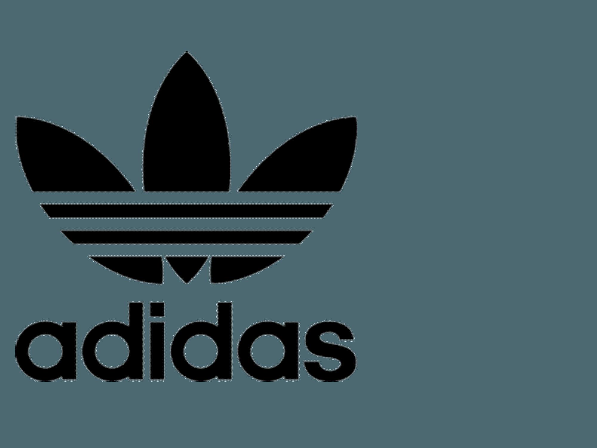 White Adidas Originals Logo LogoDix