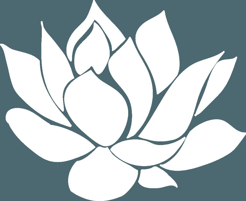 White Lotus Flower Logo Logodix