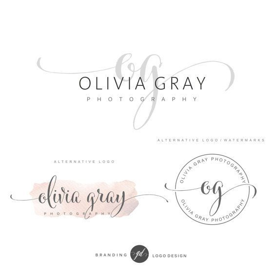 Photography Watermark Logo - how to design a watermark logo photography logo package premade ...