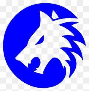 Cool Blue Wolf Logo Logodix
