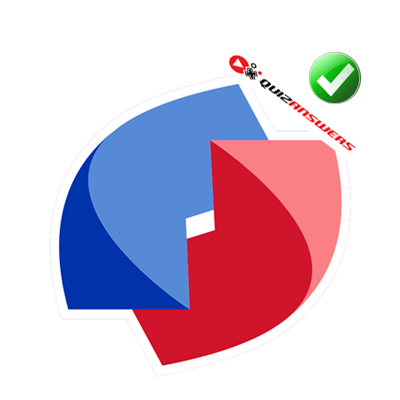 Blue Red Circle with Line Logo - Red and blue line Logos