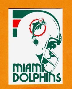 Dolphins Old Logo - 1982 MIAMI DOLPHINS OLD LOGO 4 1/4 inch DECAL STICKER Unused Team ...