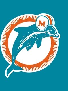 Dolphins Old Logo - Download wallpaper 240x320 miami dolphins, logo, football club ...