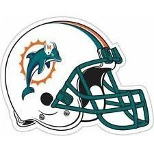 Dolphins Old Logo - NFL 12 INCH AUTO MAGNET MIAMI DOLPHINS OLD LOGO ON HELMET – All ...