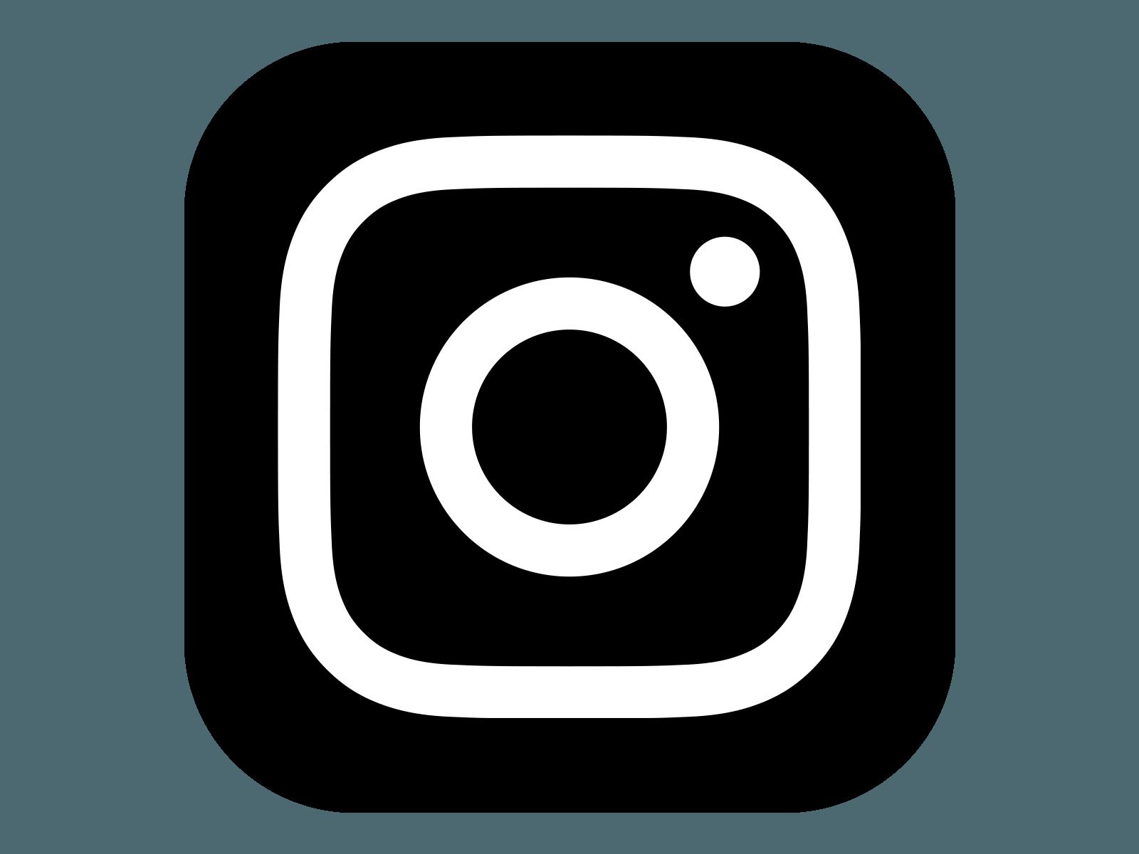Cute Black and White Instagram Logo - LogoDix
