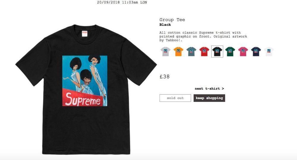 ae761eec9a7a Supreme Group Logo - Supreme Group Tee Black (Large) | eBay