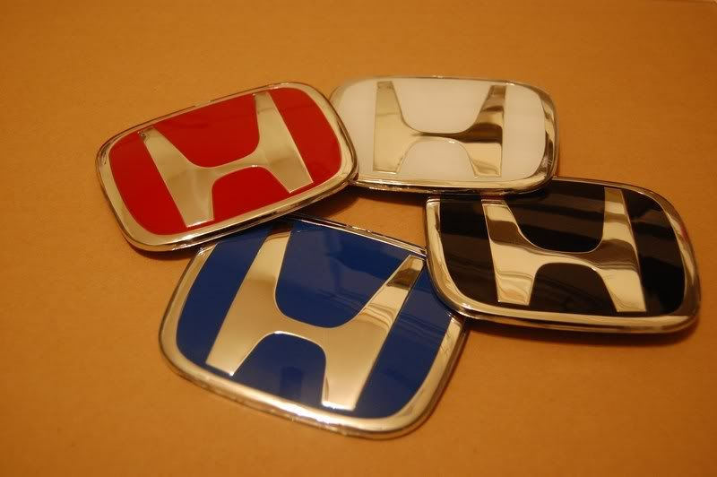 Colorful Honda Logo - DecalDude replica JDM style exterior badges-4 colors!! - Unofficial ...