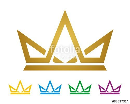 Yellow Gold Crown Logo - Gold Crown Logo Template v.2