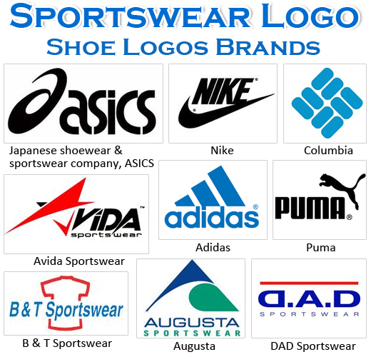 Famous Shoe Brand Logo - Most Famous Sportswear Logos and Names - Shoe Logos Brands