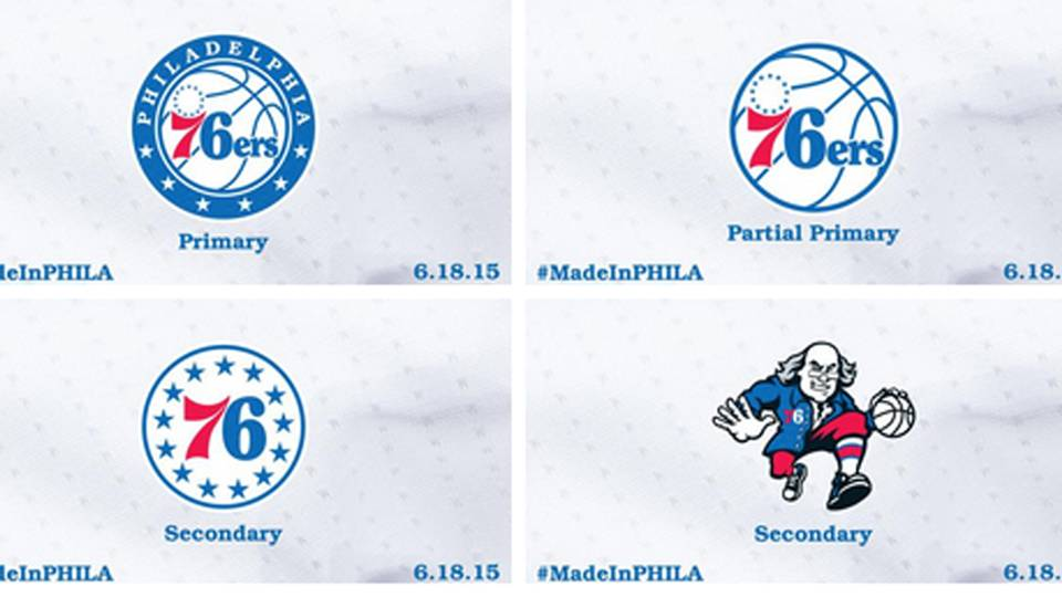 Philadelphia 76ers Logo - The 76ers new logo — round, starry, red, white and blue | NBA ...