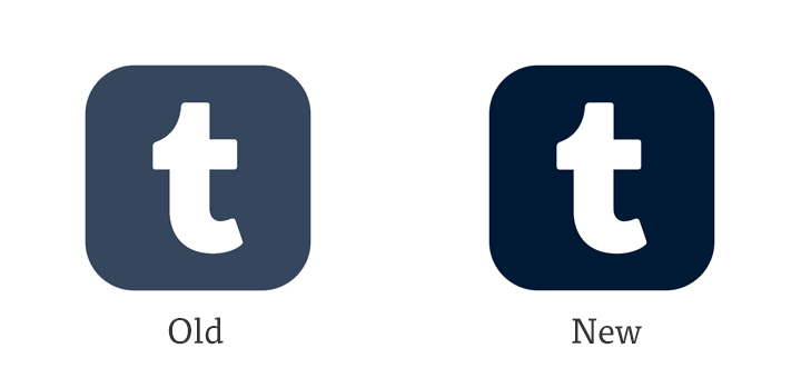 Tumblr Logo - At a Glance: New App Icon for Tumblr • Beautiful Pixels