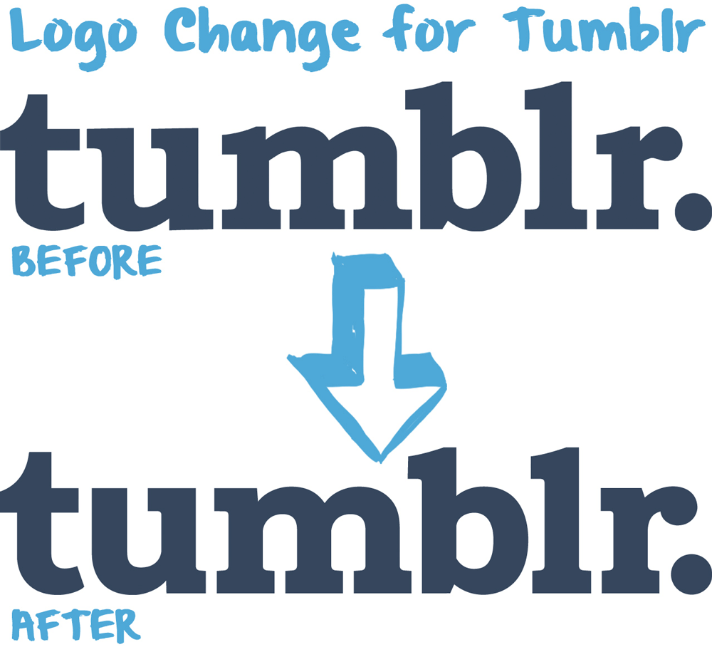 Tumblr Logo - Brand New: New Logo for Tumblr done In-house