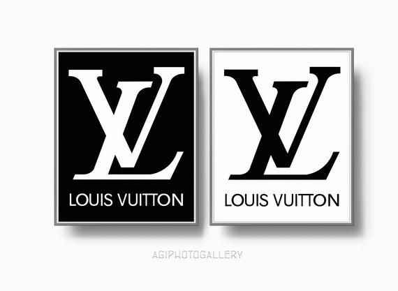 Louis Vuitton Logo - Louis Vuitton Logo Print Louis Vuitton Paris Fashion Print | Etsy