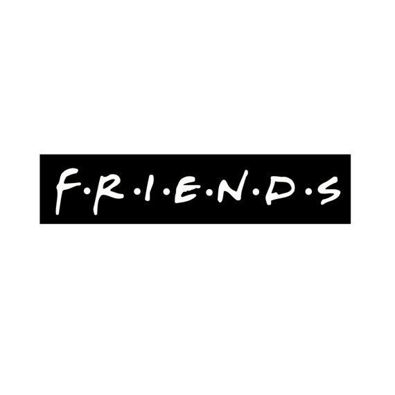 Friends Logo - Friends Logo Computer/Laptop Sticker Friends Logo by PHandCo ...