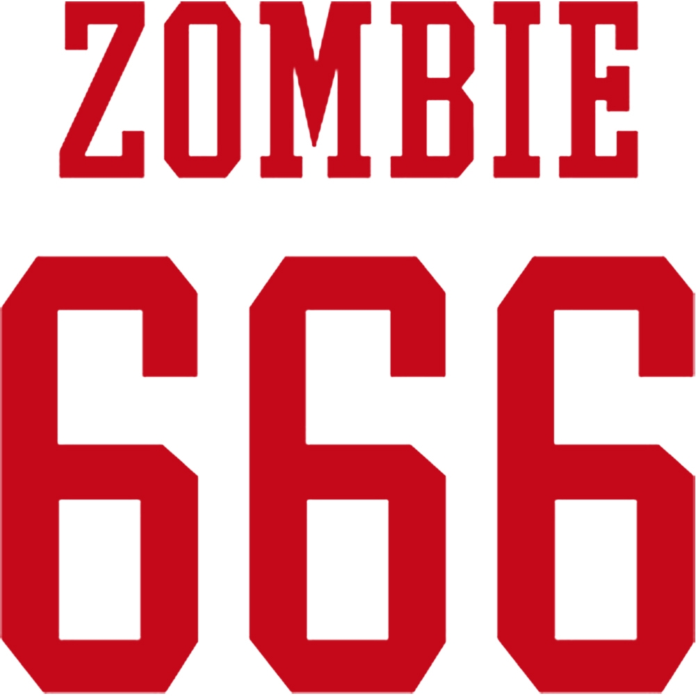 666 Logo - INACTIVE SKU-Rob Zombie 666 Logo Rub-On Sticker - Red