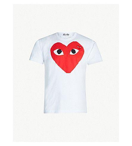 c52f8300f Comme Des Garcons Logo - COMME DES GARCONS PLAY - Heart logo cotton-jersey T