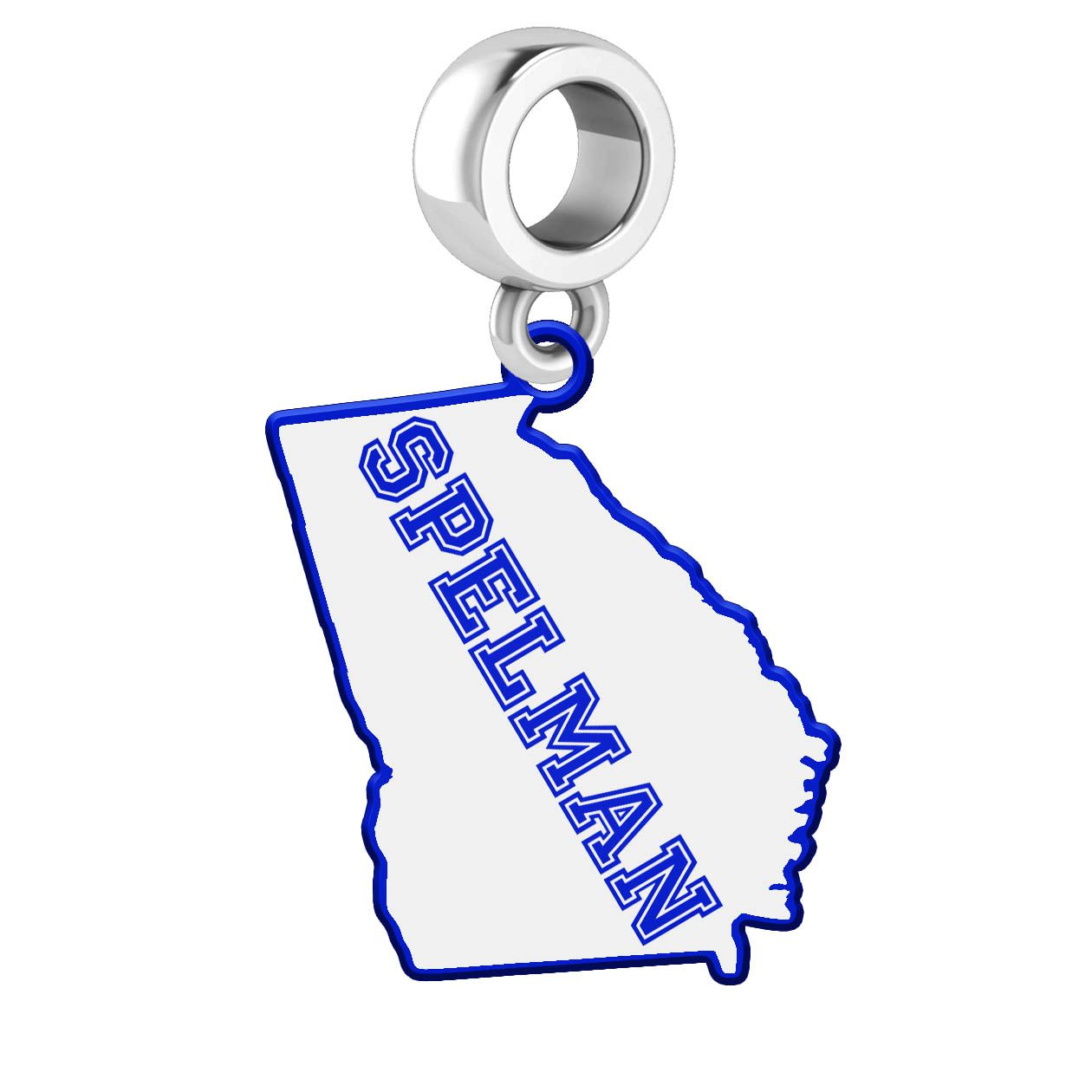 Spelman Logo - Spelman College Jaguars Dangle Charm With the State Cutout and ...