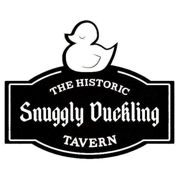 Tangled Logo - The Historic Snuggly Duckling Tavern Logo Sign from Disney's Tangled ...