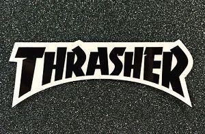 24f2418c Thrasher Black Logo - Thrasher Logo Skateboard sticker 5.5in black si | eBay